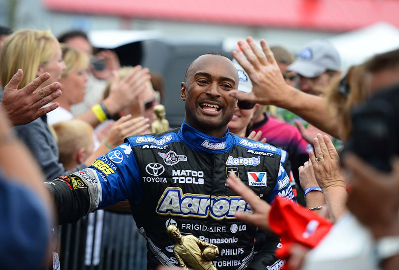 NHRA TOP FUEL DRIVER ANTRON BROWN MIDWEST NATIONALS GATEWAY MOTORSPORTS PARK